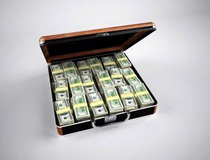 Ein Koffer mit Geld